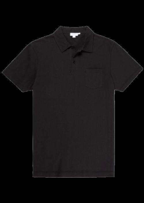 Sunspel Riviera Polo Black