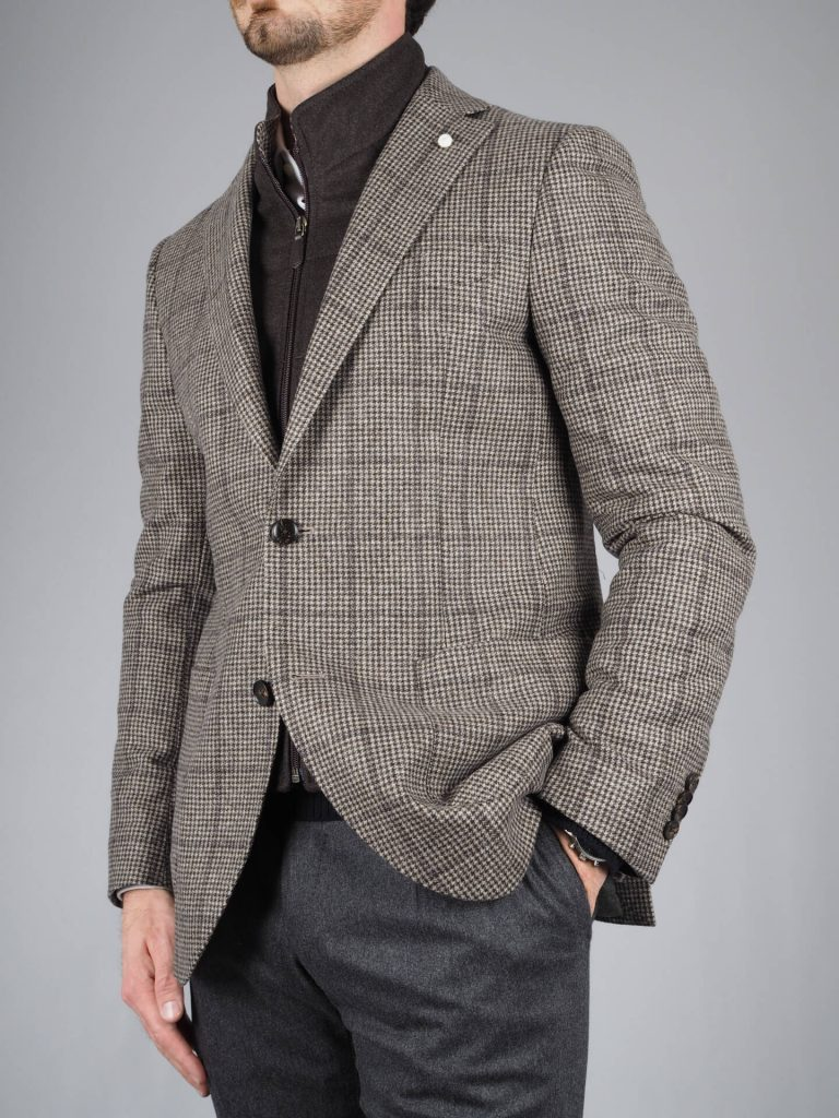 Luigi Bianchi Mantova Brown Wool Jacket