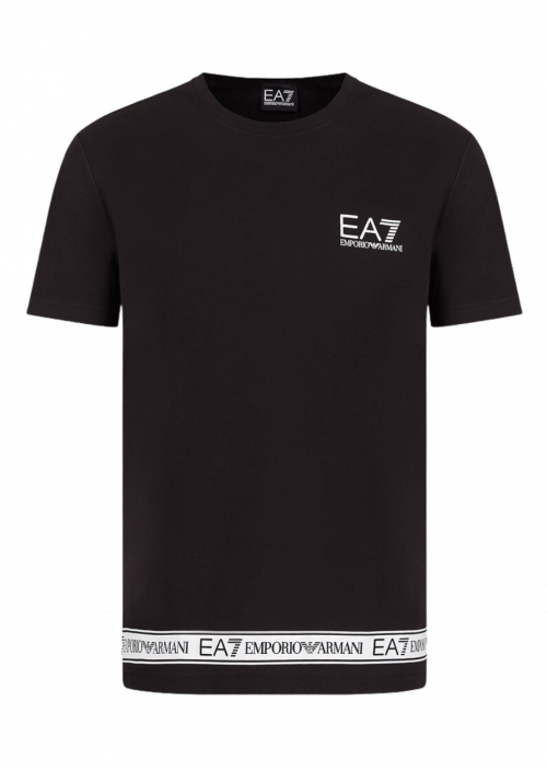 Jersey T-shirt with logo tape
